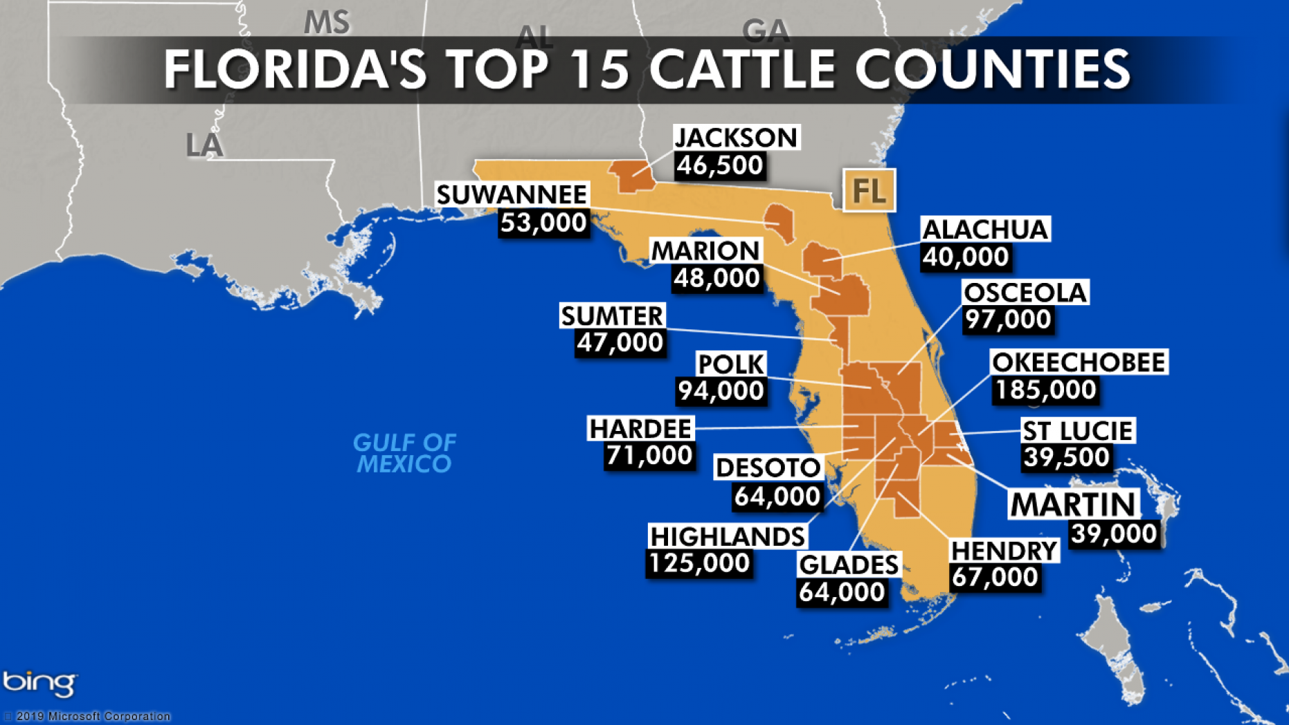 ridas top 15 cattle counties