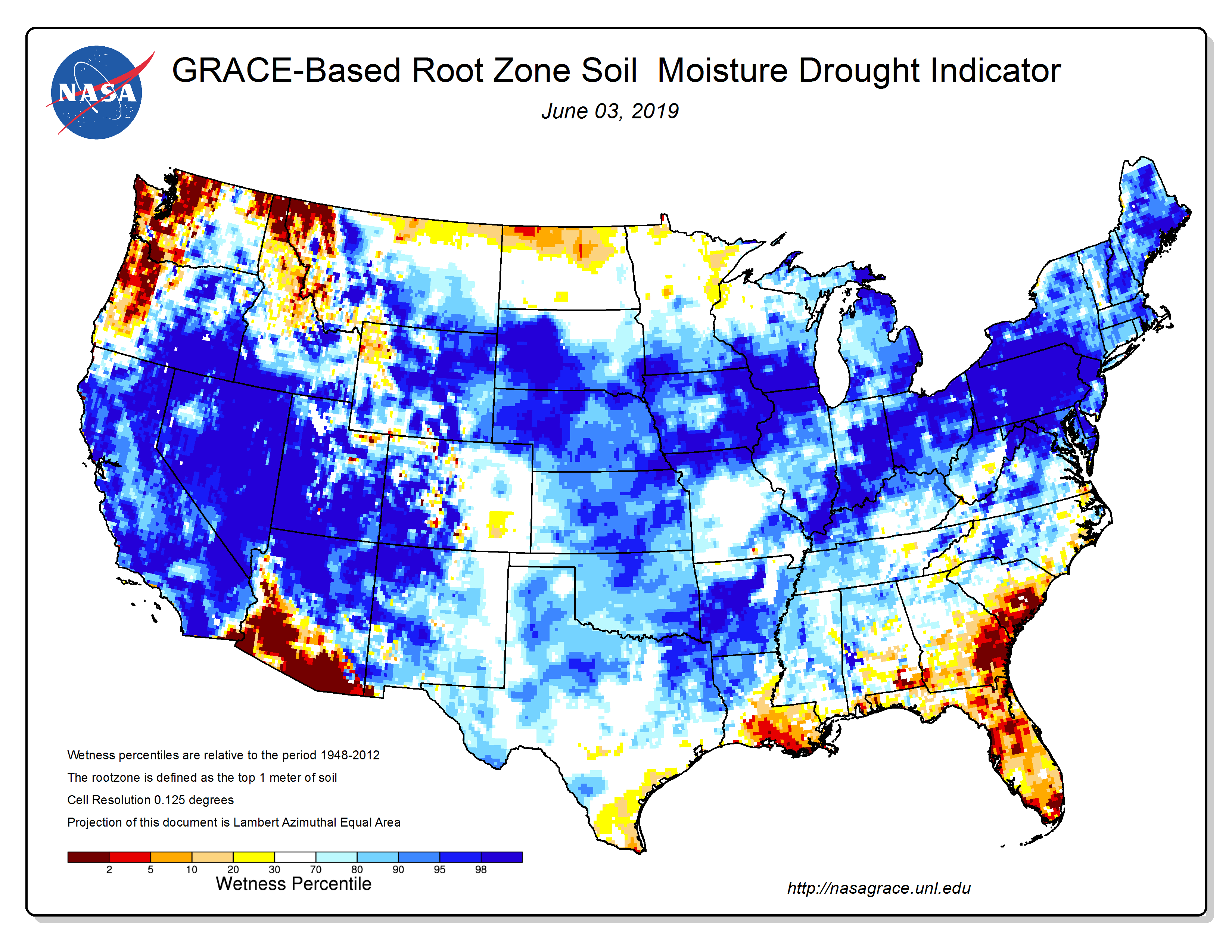 NASA Root Zone Soil Moisture 6-3-19