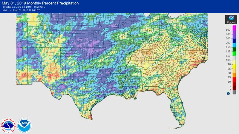 2019 May SE Rainfall