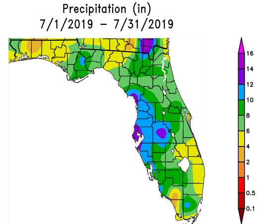 July Weather Summary and August Outlook