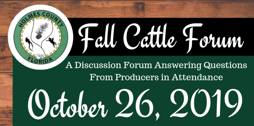 Holmes County Fall Cattlemen's Forum – October 26
