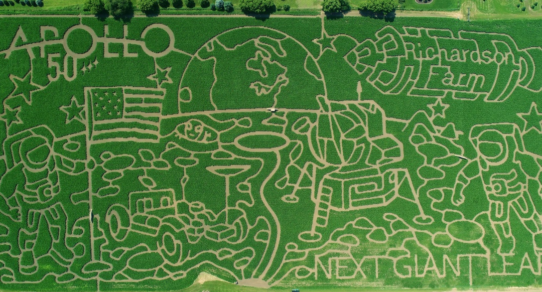 Friday Feature:  World's Largest Corn Maze Celebrates 50th Anniversary of First Man on the Moon