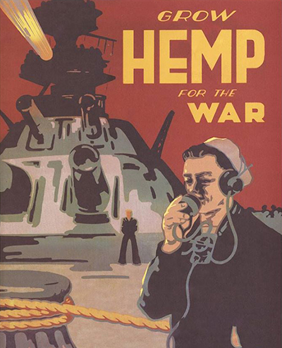 Grow Hemp for the War Poster