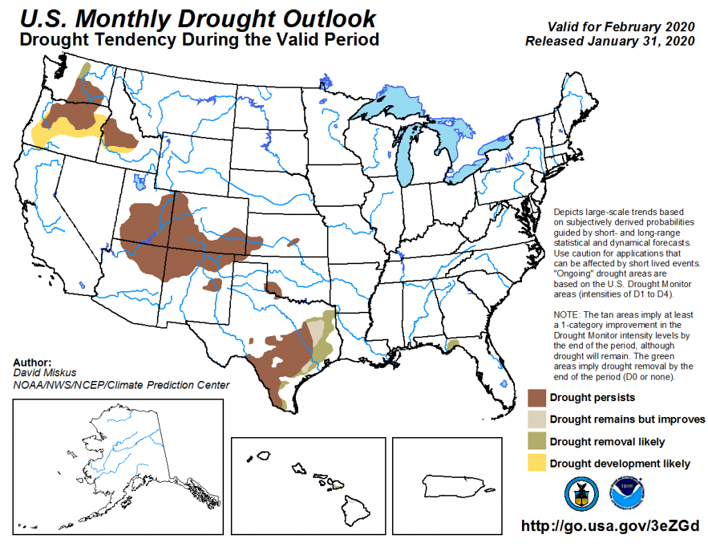 February 2020 Drought Outlook