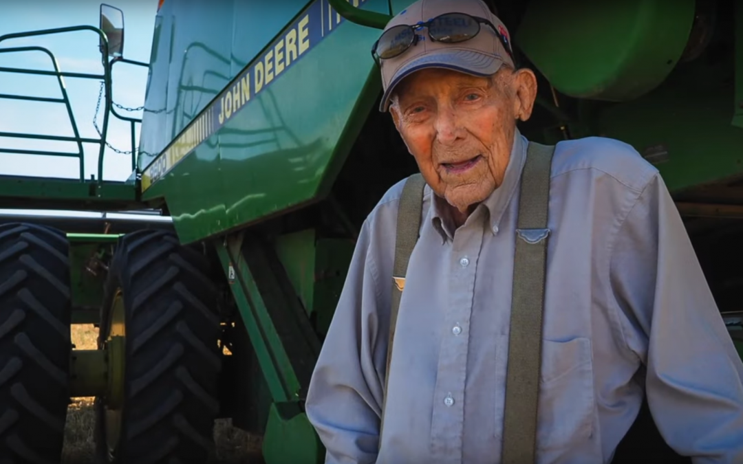 Friday Feature:  Still Harvesting Wheat at 100