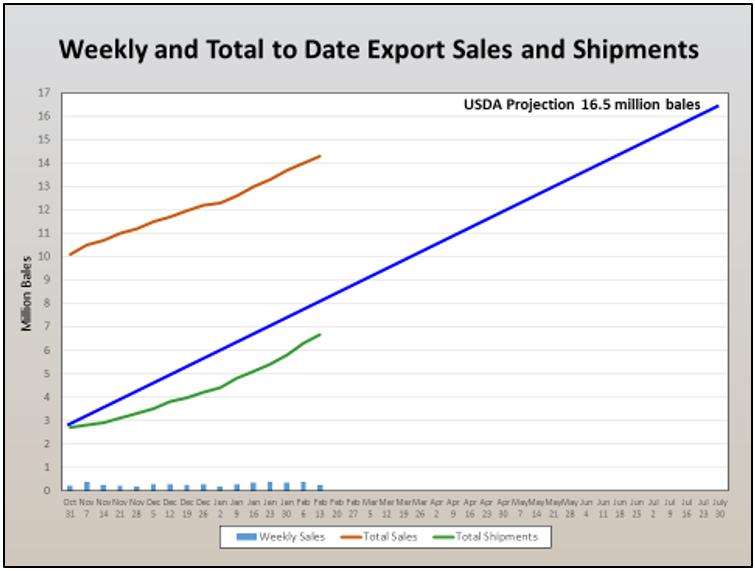cotton export sales 2-26-20