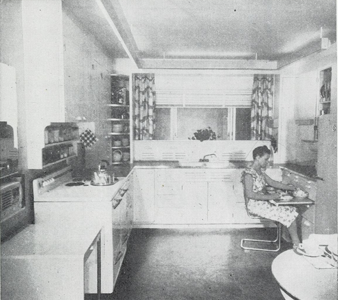 Friday Feature:  1949 Step-Saving U-Kitchen Design for Farm Houses