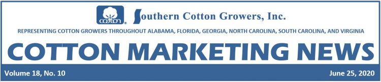 Cotton Maketing News header 6-25-20