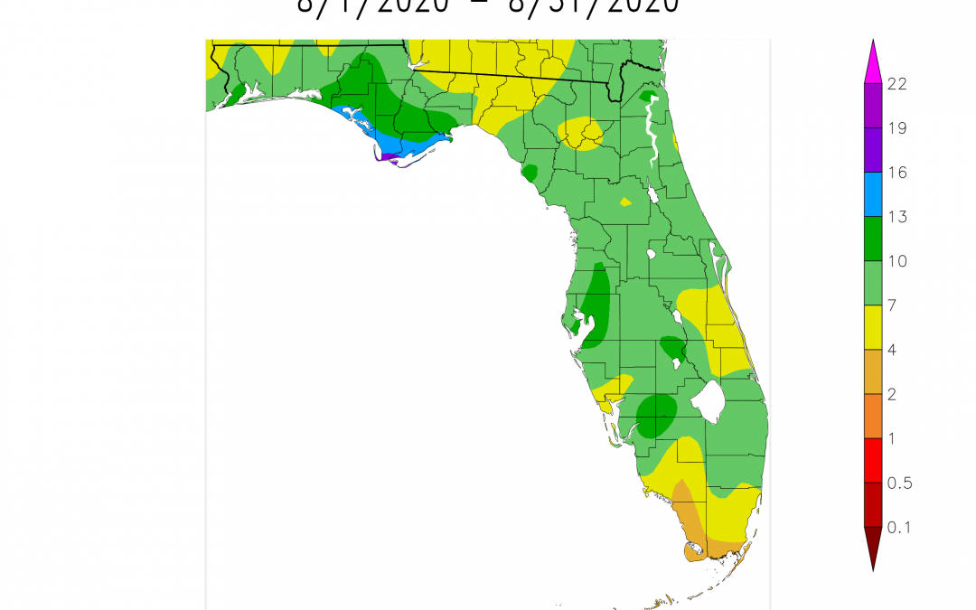 August 2020 Weather Summary and Harvest Outlook