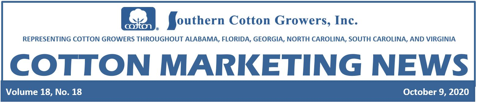 Oct 9 2020 cotton marketing newsheader