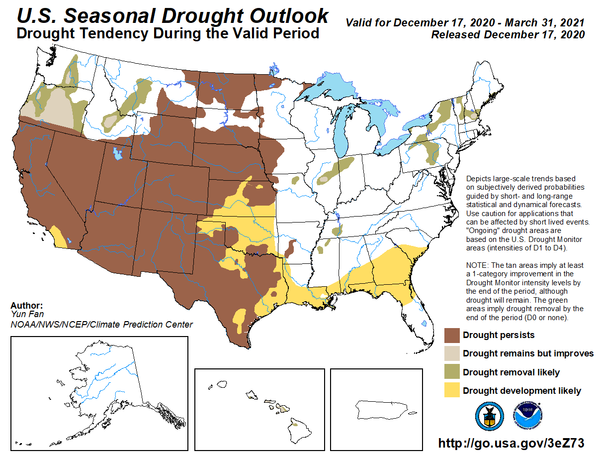 1st Qtr Season Drought Outllook