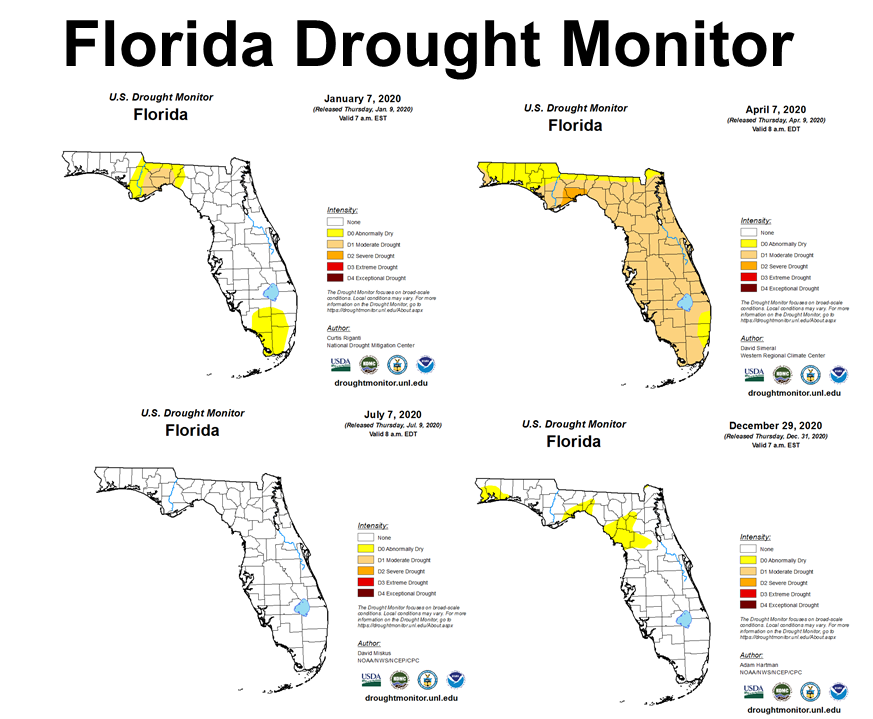 2020 Quaterly Drought Monitor