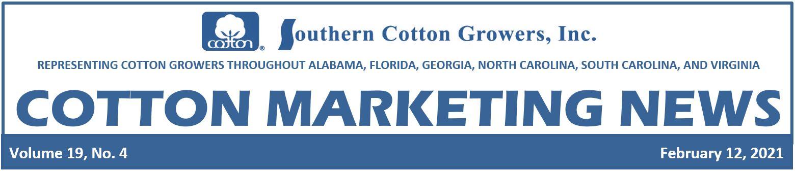 Cotton Marketing News 2-12-21