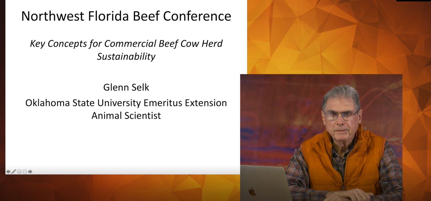 Glenn Selk, keynote speaker at the Virtual Beef Conference