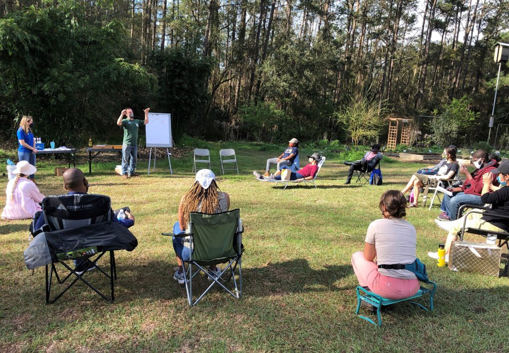 Extension agents taught training participants about integrated pest management at the UF/IFAS Leon County Extension Office. Photo by Molly Jameson.