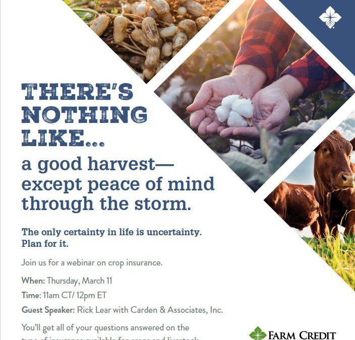Crop Insurance Basics Webinar – March 11