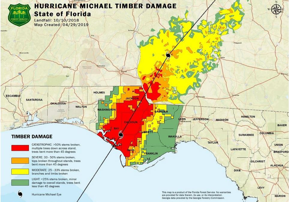 Hurricane Michael Timber and Irrigation Recovery Block Grant Application Deadlines Extended through April 30