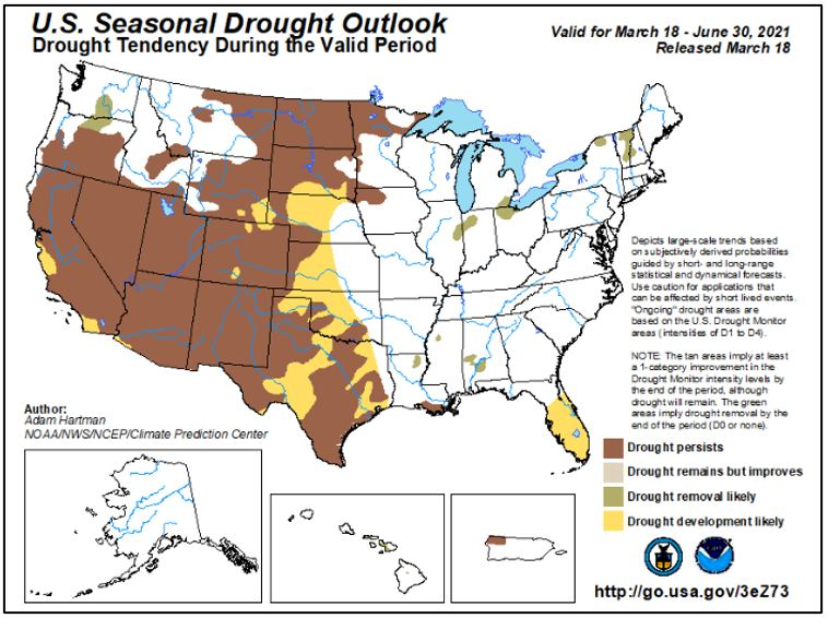 3-26-21 Drought Outlook
