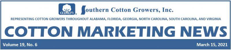 3-15-21 Cotton Marketing News header