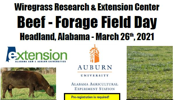 Wiregrass Beef & Forage Field Day – March 26