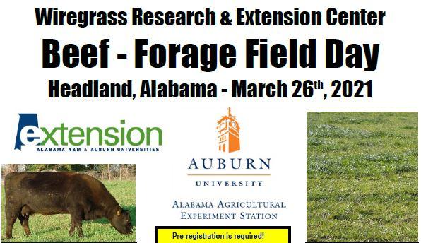 Wiregrass Beef & Forage Field Day – March 26