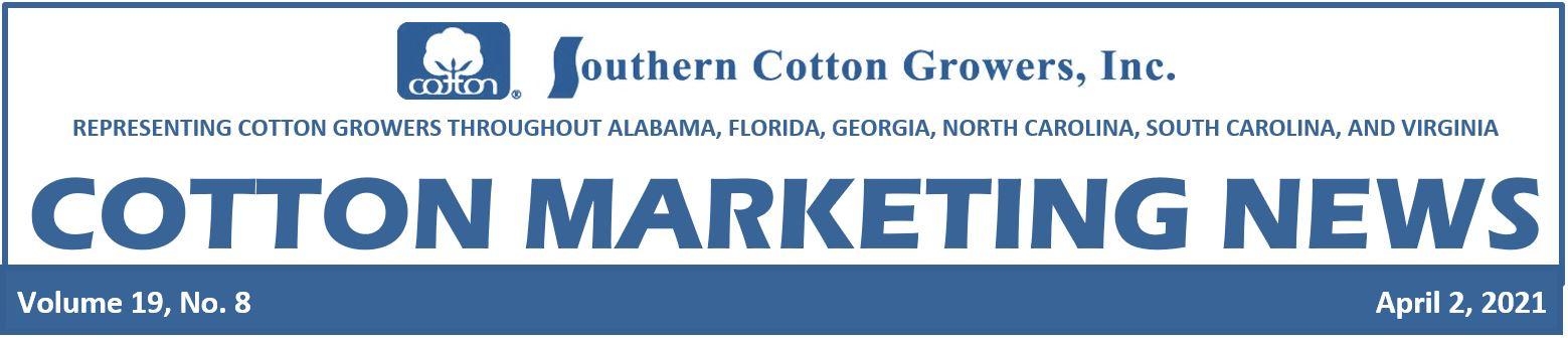 Cotton Marketing News header 4-2-21