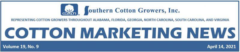 Cotton Marketing News Header 4-14-21