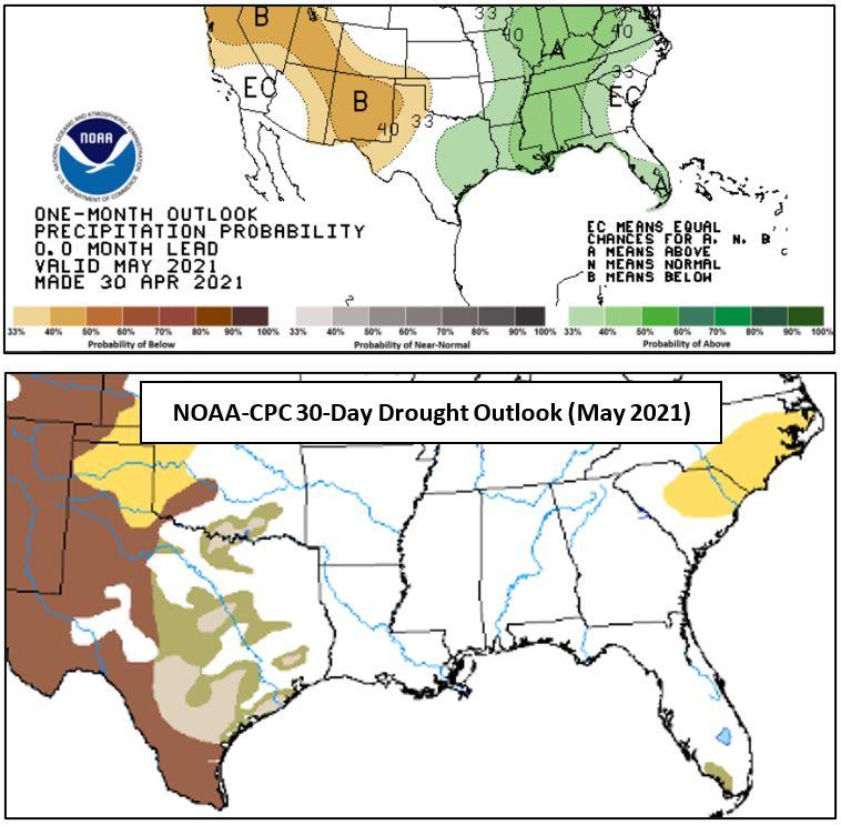 Precip & Drought Outlook 4-30-21