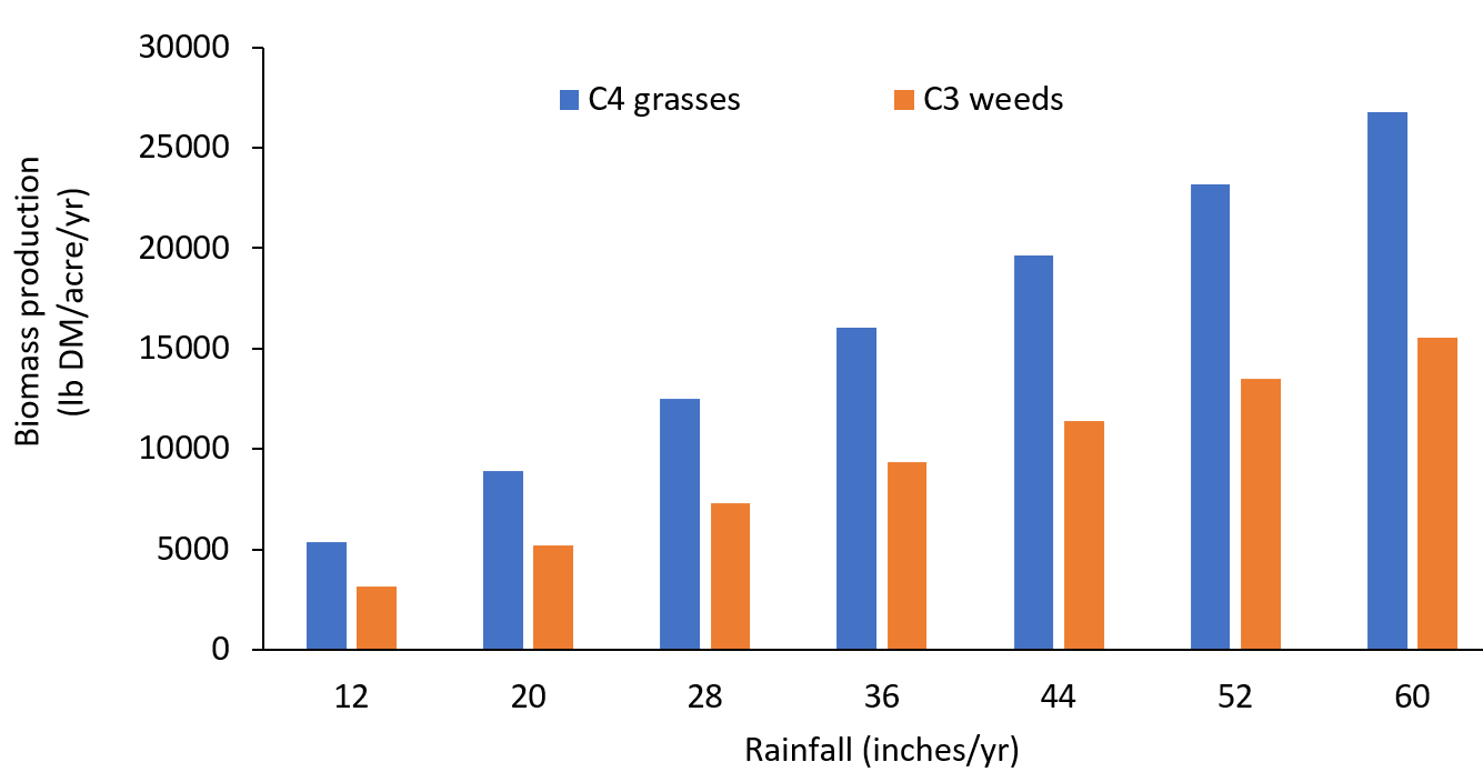 Fig 2 growth with rainfall chart