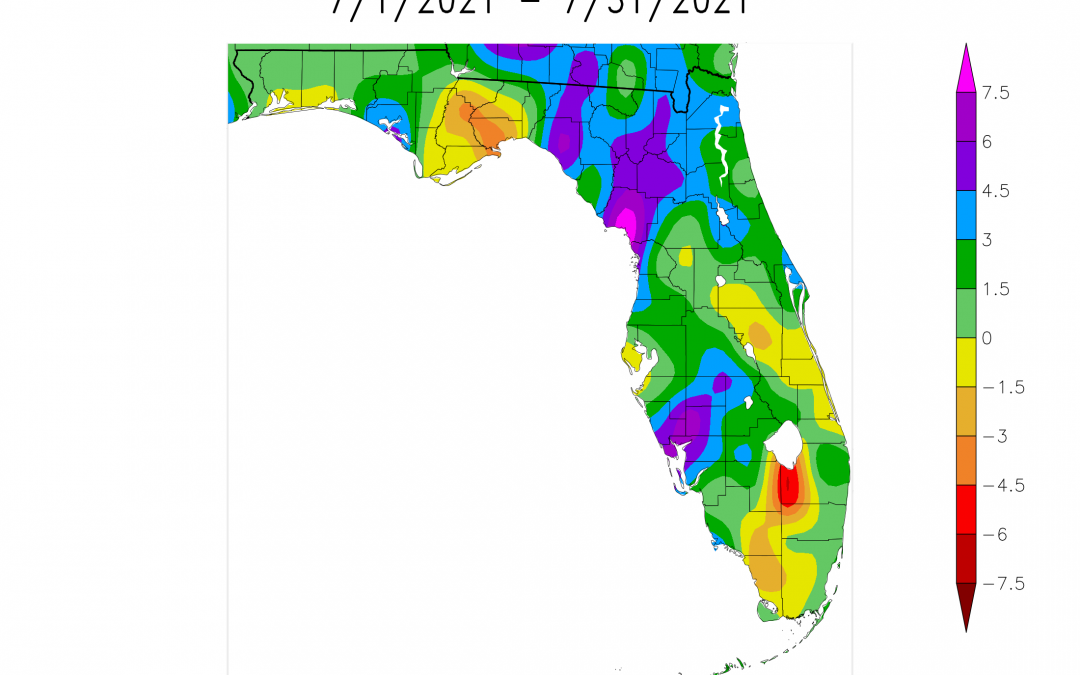 July 2021 Weather Summary and Fall Outlook