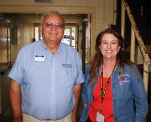 Dr. Pete Vergot and Agriculture Agent Judy Ludlow, Registration Chair.