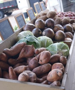 Local vegetables offered for sale. Image Credit Matthew Orwat